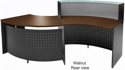 Accessible Reception Desk Glass Top Curved Wave Ada Reception Desk