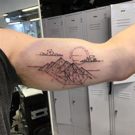 35 geometric mountains tattoos