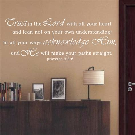 scripture wall decals trust   lord proverbs