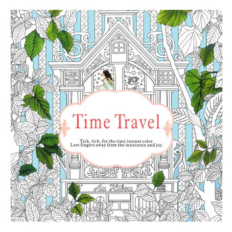 fixed in time color edition books 24 pages time travel edition coloring book for