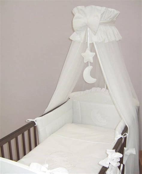 Cot Bed Canopy with Luxury 10 Pcs Embroidered Baby Toddler Canopy Bedding Set For Cot Cot Bed Moon Ebay