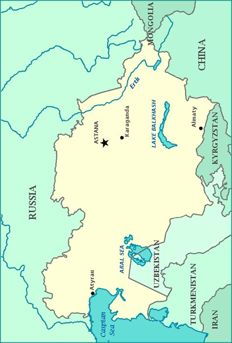 your child learns america map press the print button to print this map of kazakhstan