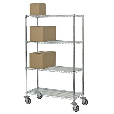 focus fmk2436694ch chrome wire shelving unit w 4 levels