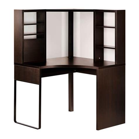 Micke Corner Workstation Black Brown 100x142 Cm Ikea Brown Corner Desk
