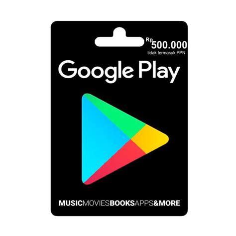 Google Play Gift Card Indonesia Gratis - jual google play gift card voucher game idr 500 000 online harga kualitas