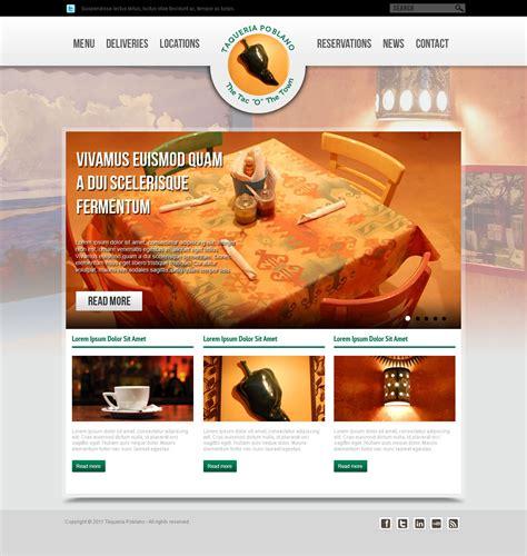 designing home page layout new web page design for southwestern restaurant hiretheworld
