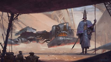 here s the concept art that inspired the robot from the artist creates a beautiful alien universe inspired by