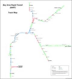 Bay Area Bart Map by New Feature Bart Track Map Transbay Blog