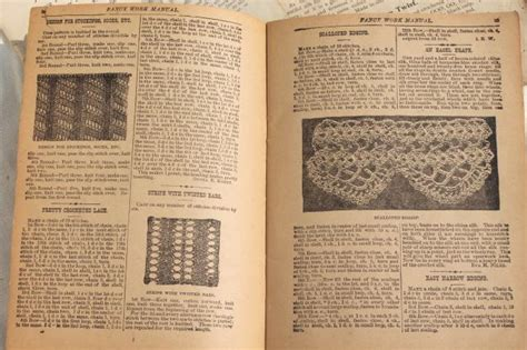 antique pattern library knitting antique 1800s vintage needlework books embroidery