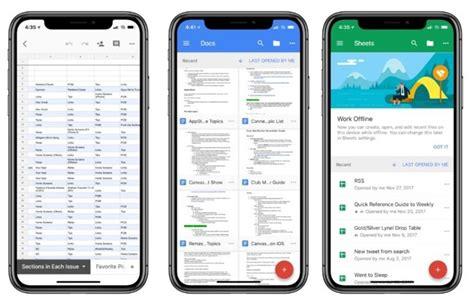 google  suite apps  iphone  compatibility drag
