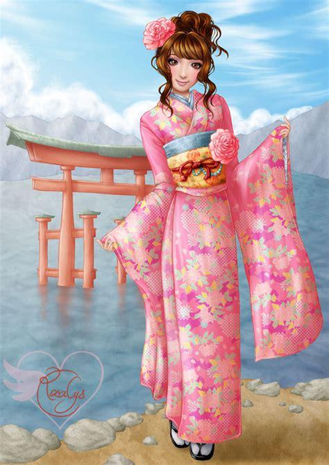 Kimono Pink japanese pink kimono rosalys artist