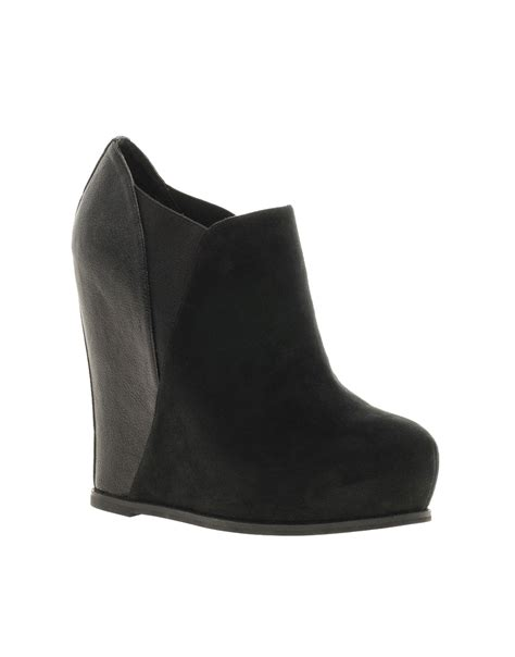 river island river island contrast heel wedge boots at asos