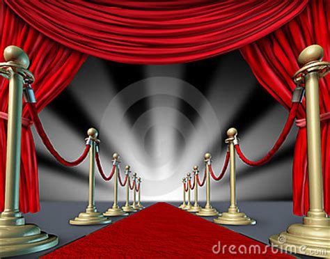 red carpet curtains grand opening royalty  stock photo