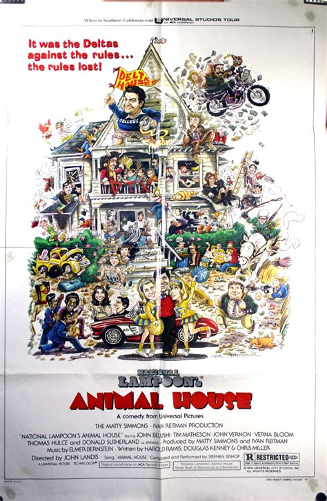 animal house poster animal house national loon john belushi original movie poster