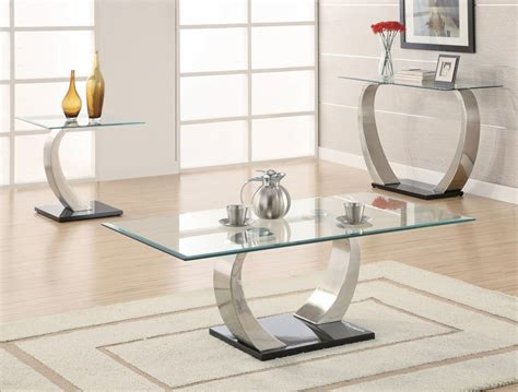 silver and glass end tables coaster 701237 silver glass end table a sofa