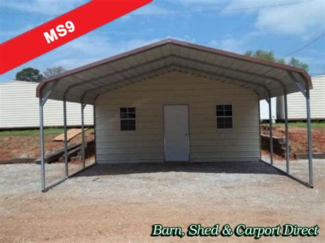Metal Carport With Storage Shed by Metal Sheds Barn Shed Carpot Direct Metal Carports