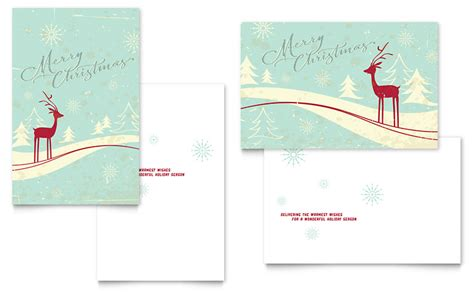 in memory of greeting card micarosoft template antique deer greeting card template word publisher