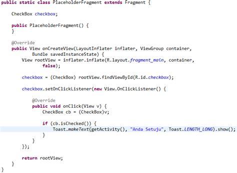 membuat blog di android membuat checkbox di android