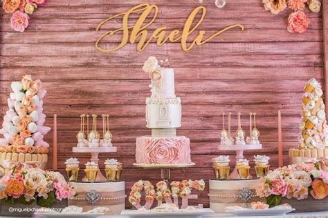 gold themes name kara s party ideas pink gold 1st birthday party kara s