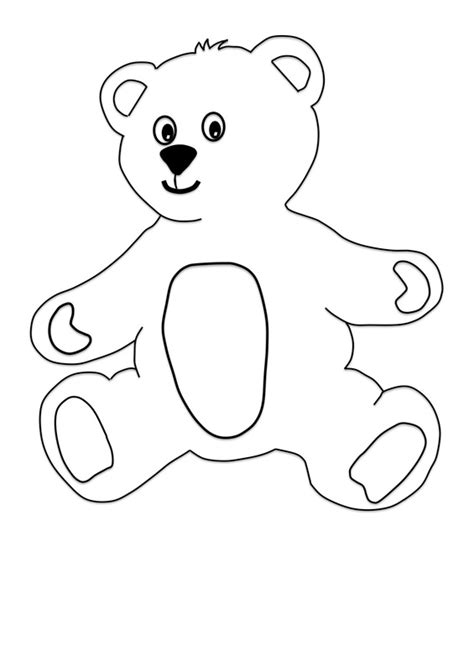 cut out teddy template printable teddy with clothes craft for craft