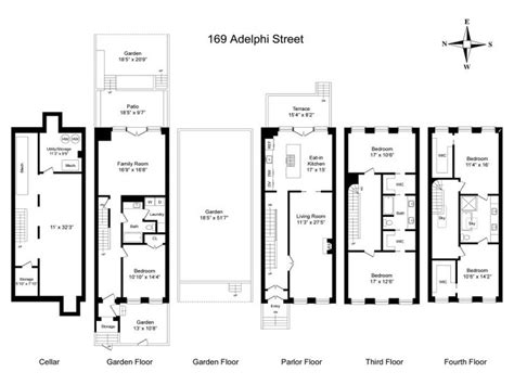 brownstone floor plan 14 best brownstone floorplans images on pinterest