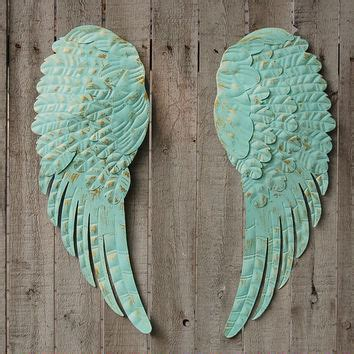 wall decor angel wings aqua angel wings wall decor from the vintage artistry