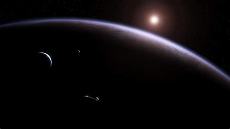 cosmos sci fi earth atmosphere moon plantets star sunlight sci fi science cg digital art outer space universe