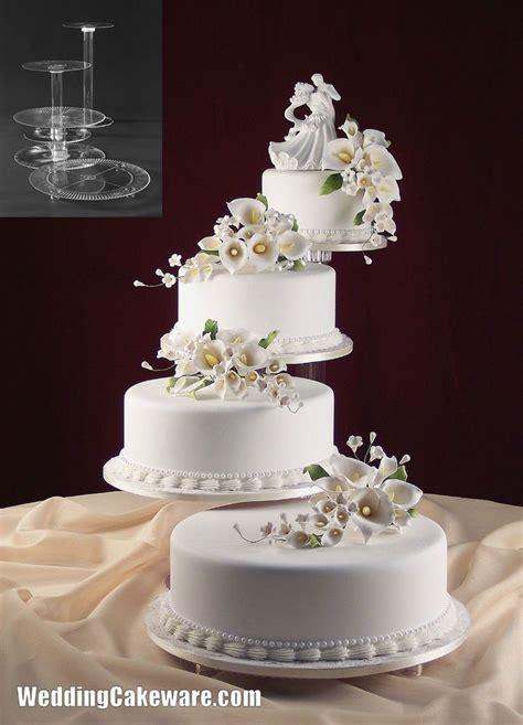 New Four Tier Wedding Cake 4 Tier Splendor Cascade Wedding Cake Stand Stands Set