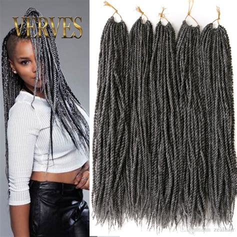 senegalese twists for gray hair ombre crochet braid hair 18inch 75grams pcs small