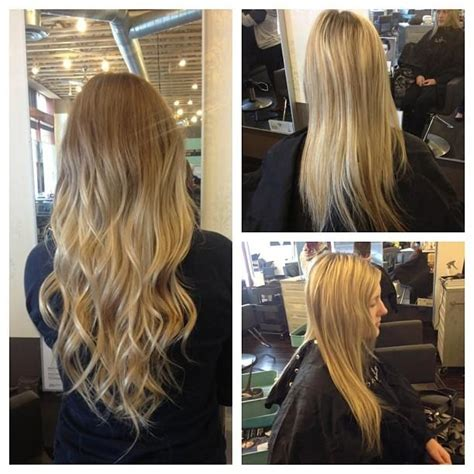 haircut before extensions before and after ombr 233 and extensions hairstyles for