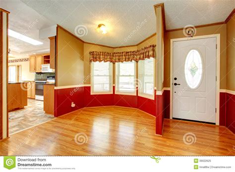 house interior trim house interior with red wood plank wall trim stock photo image 39022625