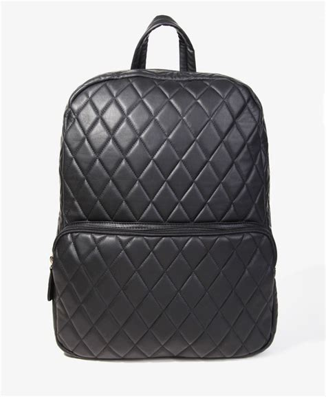 Quilted Backpacks For by Quilted Faux Leather Backpack Bag