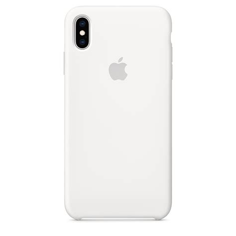 iphone xs max silicone white apple