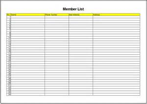Member List Template Pin Download Shoes Template On Pinterest