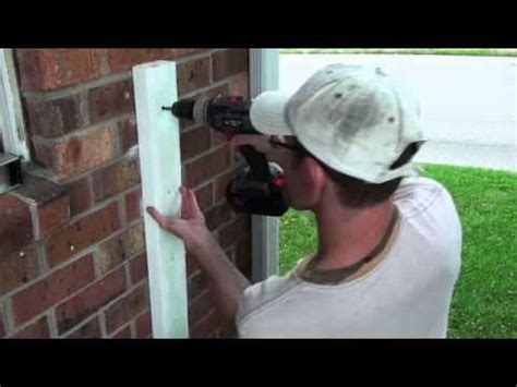 how to attach banister to wall railing project attaching 2x4 onto brick wall video 21