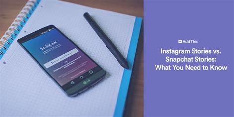 instagram stories  snapchat stories
