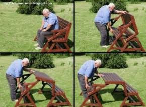 How To Make A Folding Picnic Table Bench by Amazing Folding Picnic Table Amp Bench Picture Gallery