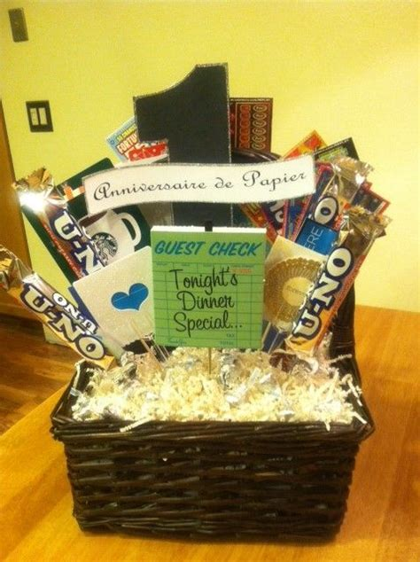 Wedding Anniversary Gift Baskets by 1st Wedding Anniversary Gift Basket Dianna Made This Gift