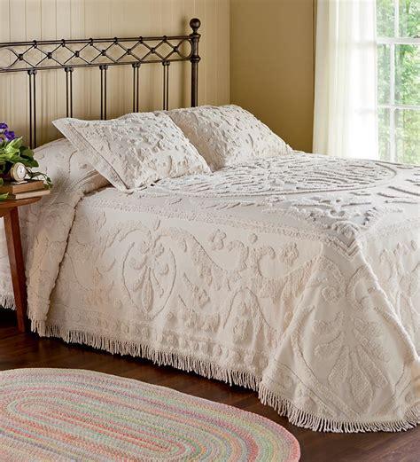 coverlets and shams king cotton chenille garden vine bedspread bedding