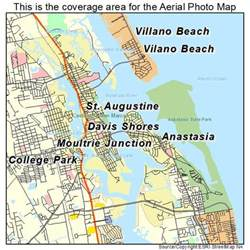 aerial photography map of st augustine fl florida