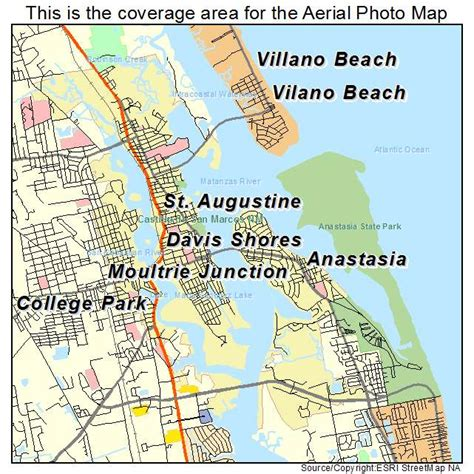 st augustine map aerial photography map of st augustine fl florida