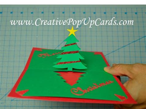 simple pyramid tree pop up card template easy tree pop up card tutorial