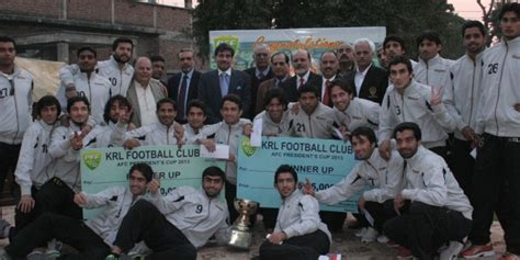 krl football team honoured by pff footballpakistan com fpdc - Presidents Cup Money Winnings