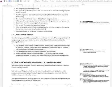 Eu Gdpr Documentation Toolkit Gdpr Contract Template