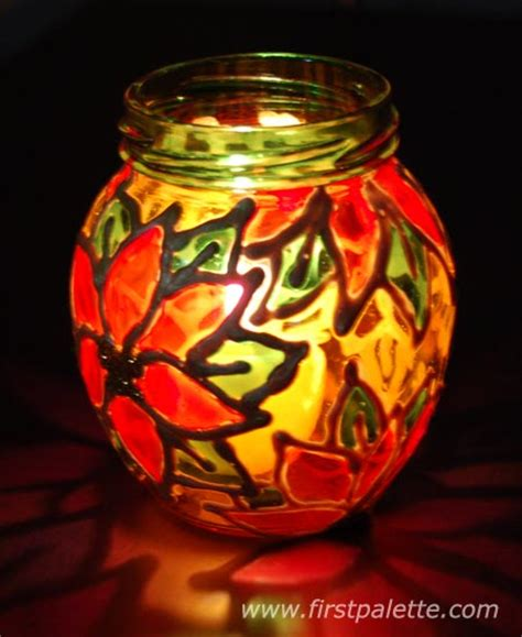 stained glass jars craft kids crafts firstpalette com