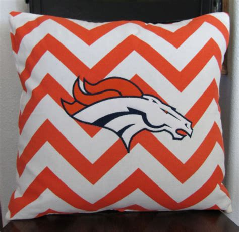 Bronco Pillow by Bronco Football Throw Pillow Cover With Orange And By