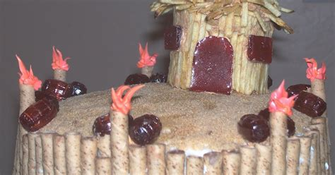 Tiki Hut Topper The Sew Er The Caker The Copycat Maker Edible Tiki Hut