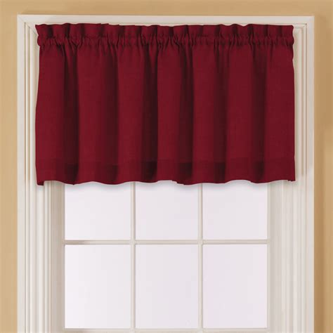 Red And Blue Valance Essential Home Window Valance Red Valances Amp Scarves