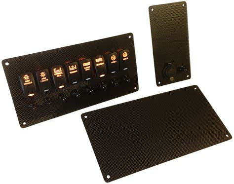 contender boat switch panel set of carbon fiber electrical panels new wire marine