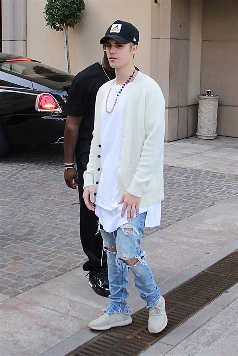 Offwhite I M His Sneaker Cde justin bieber swaps vans for yeezys while out in l a